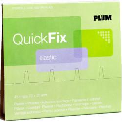 Plum QuickFix Elastic pleisters navulling, per 6 stuks