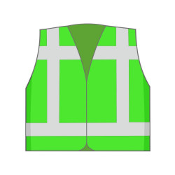 Vest onbedrukt (overige kleuren)