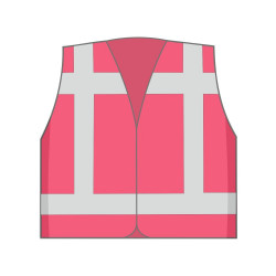Vest onbedrukt (bijzondere kleuren)